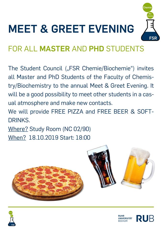 Master und PhD Kennenlernabend 2019